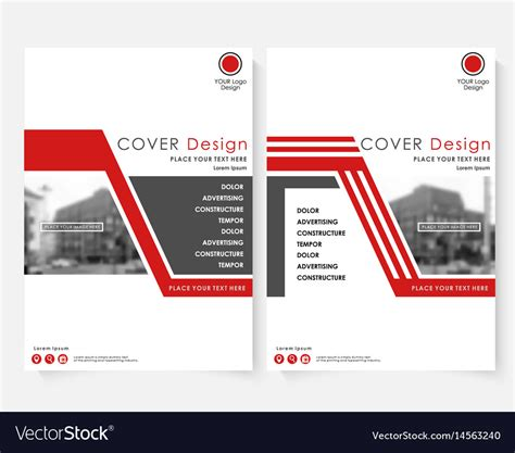 architecture report template cover design template for annual report vector image