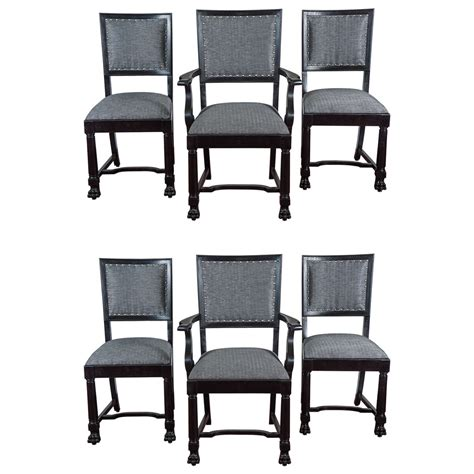 Arts And Crafts Dining Room Furniture Ebonized Arts And Crafts Style Dining Chairs For Sale At 1stdibs