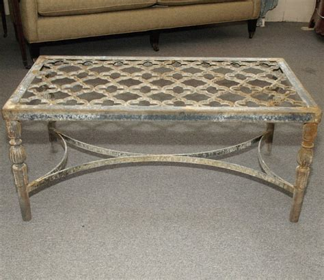 cast iron quatrefoil coffee table at 1stdibs