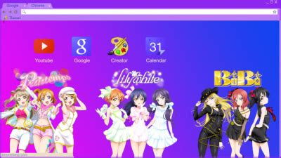 google chrome themes love live love live chrome themes themebeta