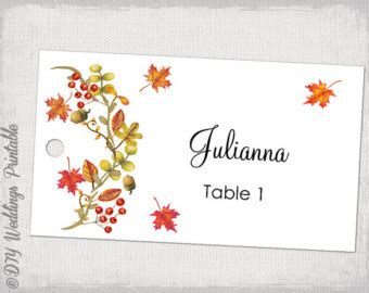 Fall Card Template by Fall Card Etsy