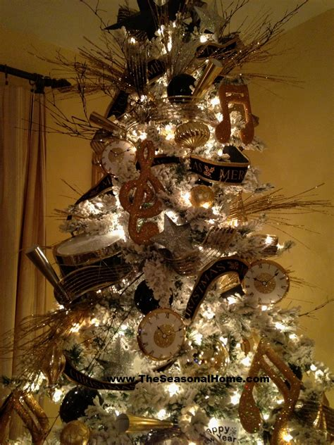 Black Gold Silver Decorations by S Tree Top 171 The Seasonal Home