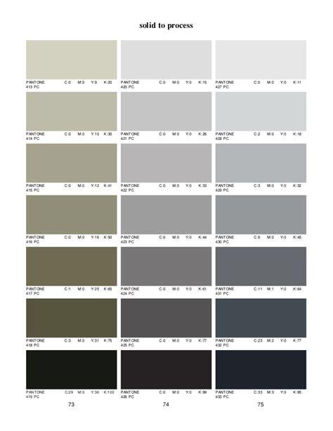 Light Gray Shades pantone