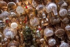marrokanische len shoppa med falska marockanska lor arkivbild bild