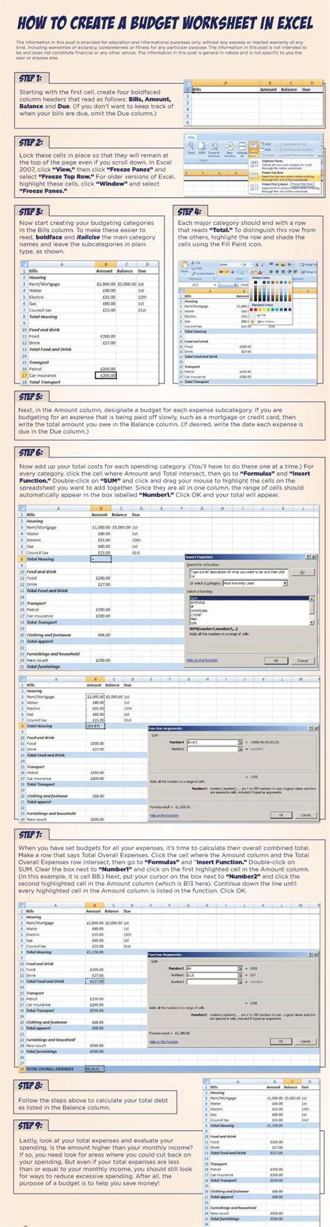 How To Make Your Own Budget Spreadsheet by 17 Best Images About Excel On Monthly Budget