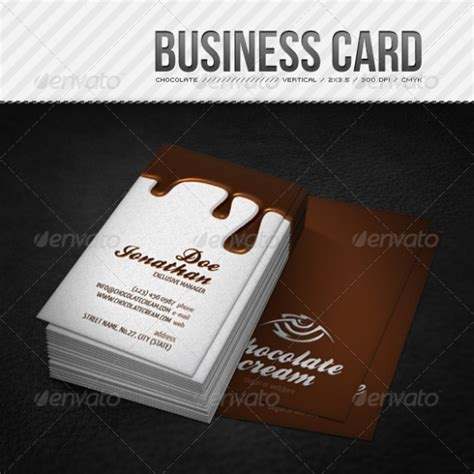 chocolate business card templates cardview net business card visit card design