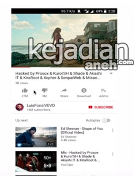 despacito sedih buset lagu despacito dihapus di youtube di hack kasihan