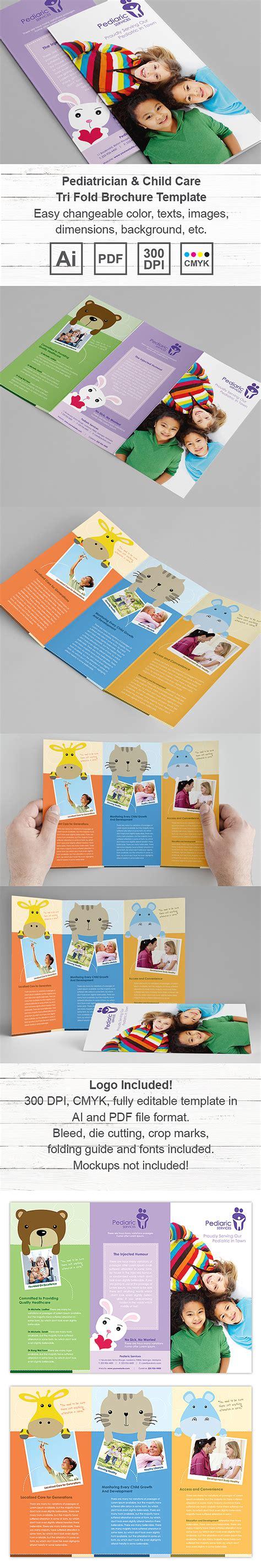 child care brochure template pediatrician child care tri fold brochure template