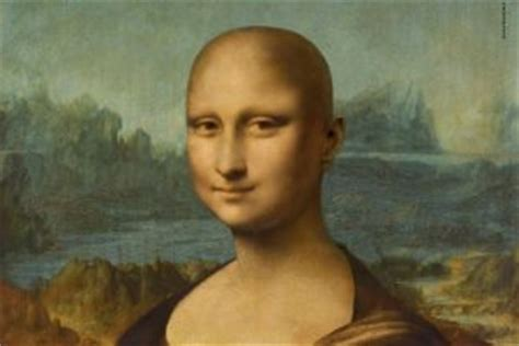 monalisa haircut story a bald mona lisa to fight against cancer west