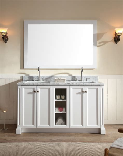 ariel westwood 61 quot sink vanity set in white ariel
