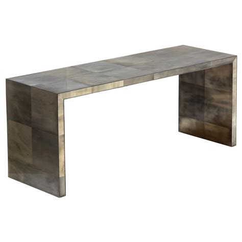 giles oly grey waterfall console table kathy kuo home