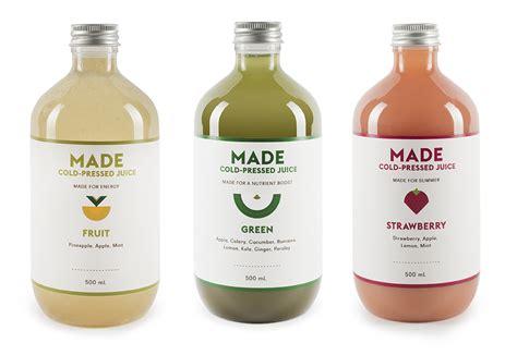 Australian Detox Juice by Made Juice The Dieline Packaging Branding Design