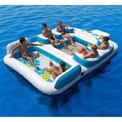 pool floats new giant inflatable floating island 6 from amazon summer
