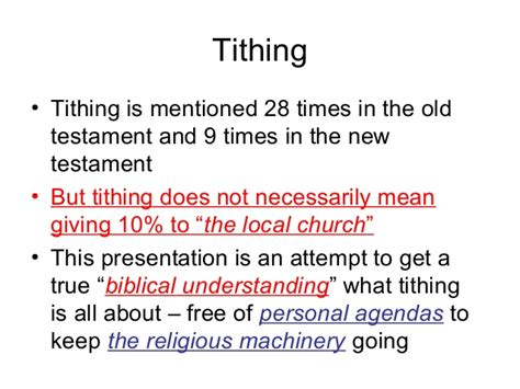 is tithing for the new testament church