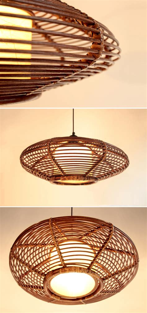 Rattan Light Fixture New Modern Asia Rattan Ceiling Pendant L Handmade Lighting Fixture Chandelier