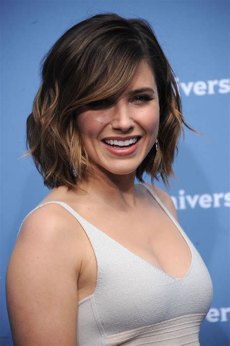 bush hairs sophia bush short wavy cut newest looks stylebistro