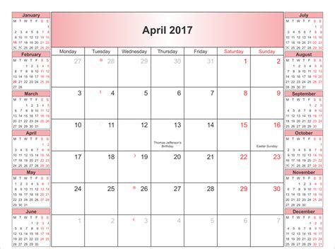 april 2017 blank calendar template calendar and images
