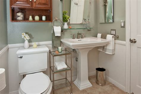 four pedestal sinks in four different bathrooms one