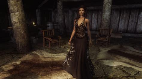 skyrim cbbe dress ball gown dress royal retexture at skyrim nexus mods and
