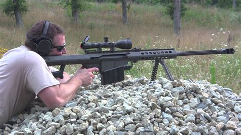 50 Bmg Sniper by Shooting The Sniper Rifle The M107 Barrett 50