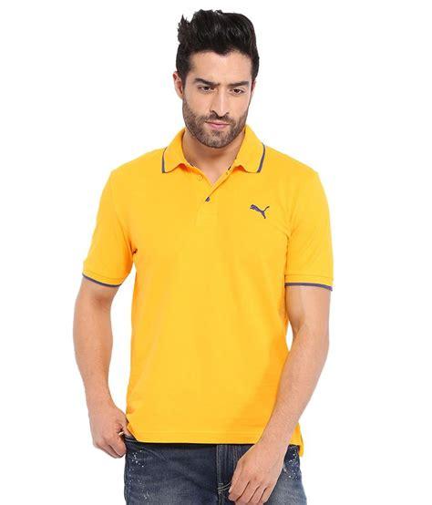 Polo Shirt Burnt Umber Light Yellow yellow polo t shirt buy yellow polo t shirt at low price snapdeal