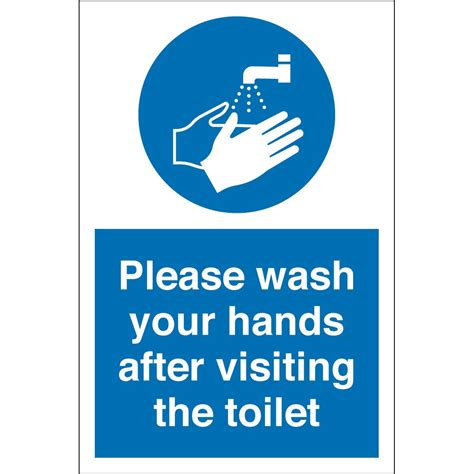 not washing hands after using the bathroom wash your after visiting toilet signs from key