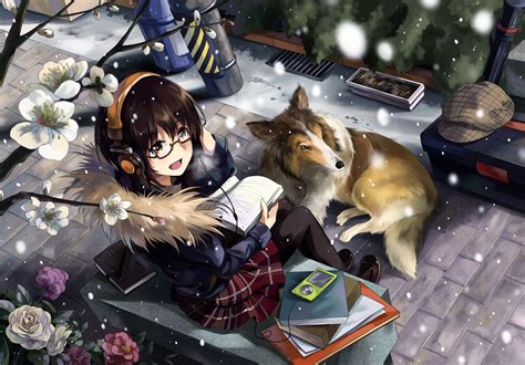 animals with hair books animals anime books brown brunettes cherry