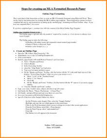 Mla Thesis Outline by Mla Research Paper Outline Format