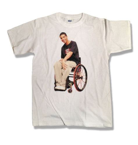 Drake Wheelchair World War Iii - drake degrassi wheelchair shirt