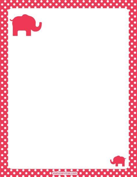 printable paper elephants printable elephant stationery and writing paper free pdf