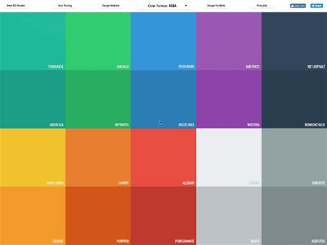flat color picker flat ui color picker v2 by ahmet s 252 lek dribbble dribbble