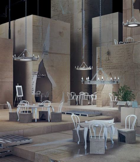 Interior Design Theme Ideas Restaurant Interior In Cardboard Theme Papiernia Home Building Furniture And
