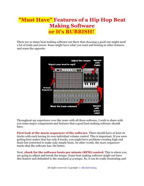 features that you must look must have features of a beat making software that you must