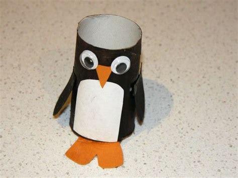 Paper Penguin Craft - toilet paper roll penguin