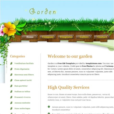 garden template garden free website templates in css html js format for