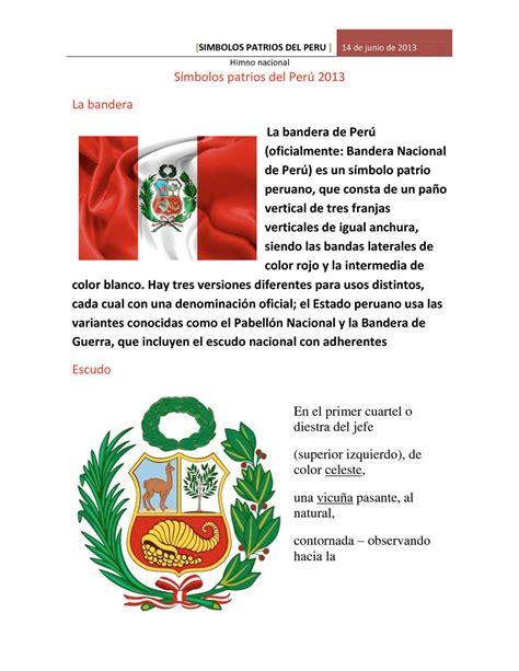 simbolos patrios del peru colouring pages page 3 calam 233 o s 237 mbolos patrios del per 250 2013