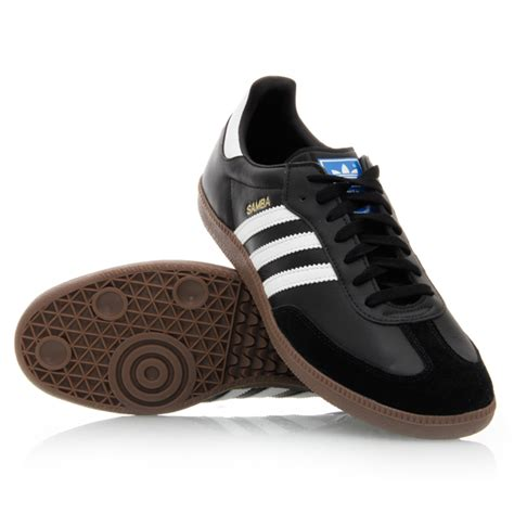 41 adidas samba mens casual shoes black white