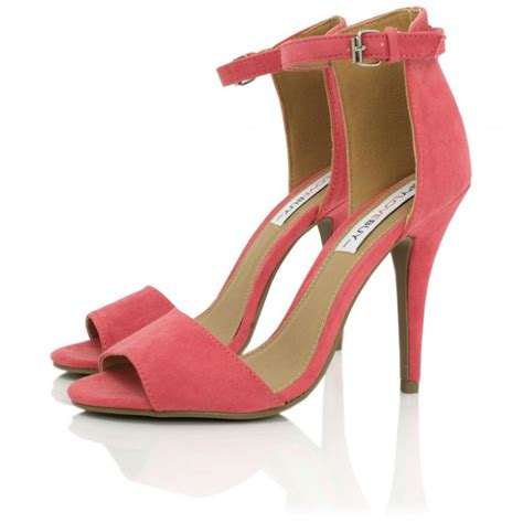 coral shoes coral suede style peep toe shoes buy coral suede style