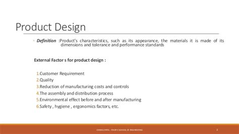 product layout simple definition product design and value engineering pdve ch 1 introduction