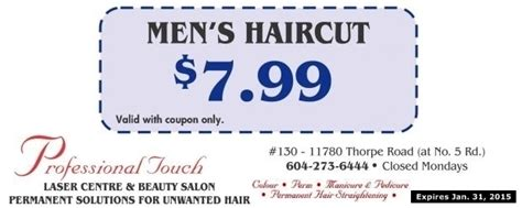 haircut deals kelowna men s haircut 7 99 at professional touch health