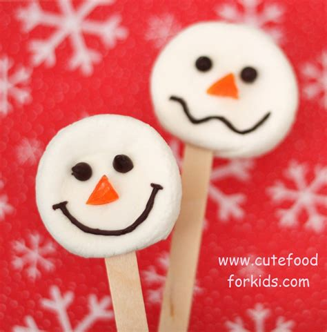 cute food for kids easy marshmallow snowmen