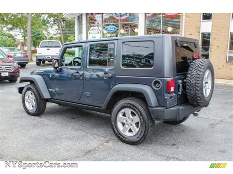 dark blue jeep rubicon 2008 jeep wrangler unlimited rubicon 4x4 in steel blue