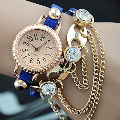 watch for girls beautiful collections bohemian style rhinestone link chain bracelet watch