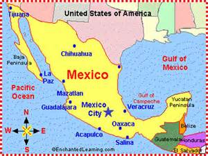 A Map Of Mexico by Mexican Jumping Beans Mrs Warner S 4th Grade Classroom