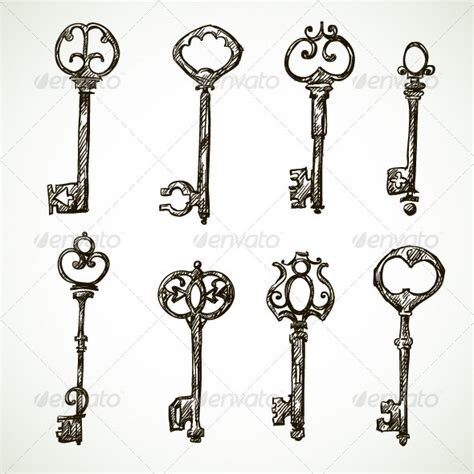vintage key tattoo designs key drawings on arrow drawing vintage key