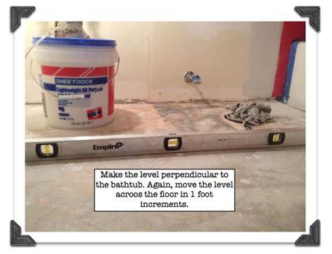 Level Floor by My Super Secret Way To Install Bathroom Floor Tile Part 1
