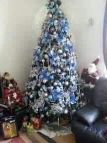 blue and silver christmas tree theme christmas tree