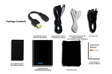 Powerbank 40000mah lizone pro 40000mah laptop portable external battery