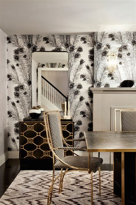 Interior Wall Sconces Florence Broadhurst Peacock Feathers Wallpaper