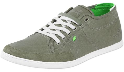 boxfresh sparko waxed canvas shoes olive green